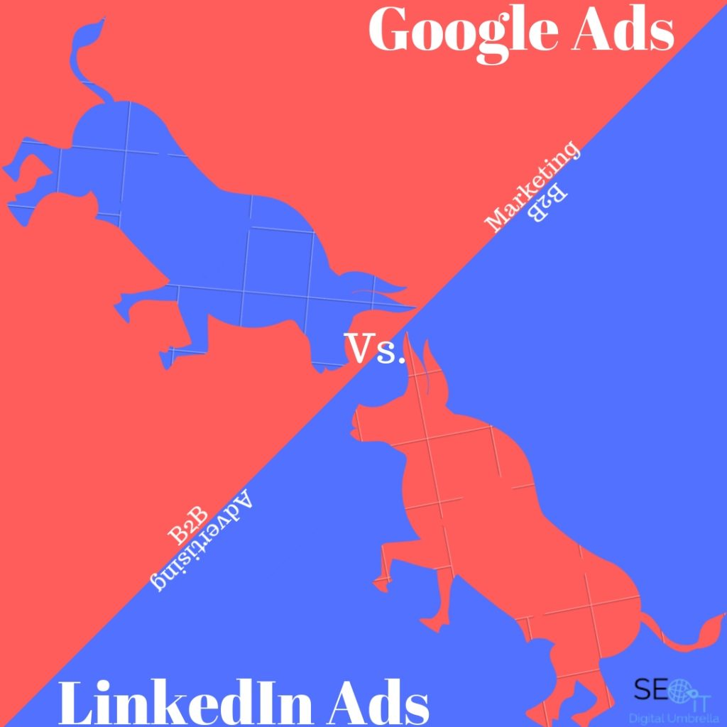 Google Ads vs linkedin ads